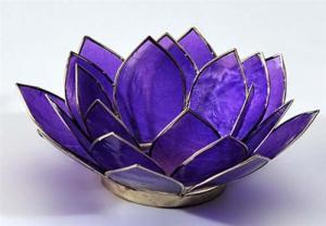 Regnbågsvävar Lotusblomma för värmeljus, lila