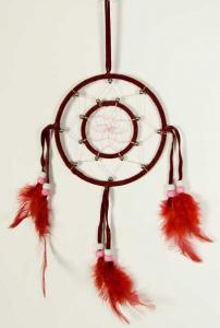 Cleo Dream Catcher Circles Red