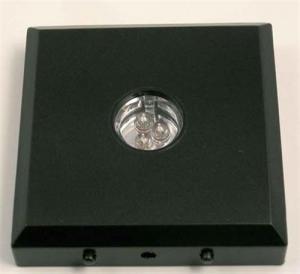 Regnbågsvävar LED-bas, svart färgväxlare med batteri