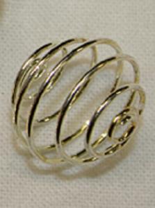 eKnallen Liten spiral för trumlad sten - 12 mm, silverfärgad