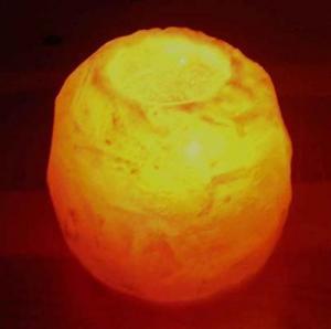 Regnbågsvävar Saltkristallykta, 700 g 40 mm hål