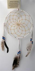 Regnbågsvävar Drömfångare 20 cm, vit