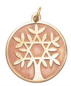 Regnbågsvävar Amulett - Livets träd