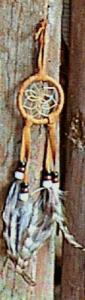 Regnbågsvävar Drömfångare 5 cm, rödbrun