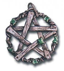 Regnbågsvävar Hängsmycke, Pentagram of Pan