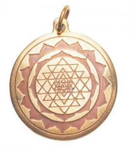 Regnbågsvävar Amulett - Shri yantra