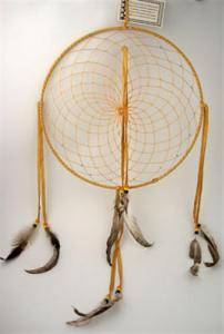 Regnbågsvävar Drömfångare 30 cm, gulbrun