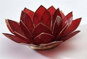 Regnbågsvävar Lotusblomma för värmeljus, röd