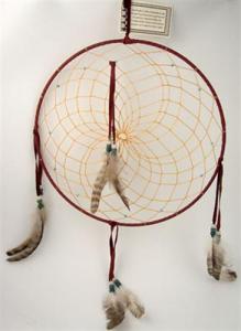 Regnbågsvävar Drömfångare 30 cm, vinröd