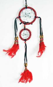 Cleo Dream Catcher Double Red 3 Inch