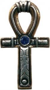 Regnbågsvävar Halsband - Ankh