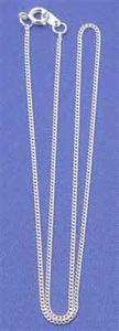 Regnbågsvävar Silverkedja 42 cm