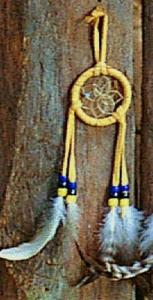 Regnbågsvävar Drömfångare 5 cm, gulbrun