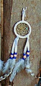 Regnbågsvävar Drömfångare 5 cm, vit