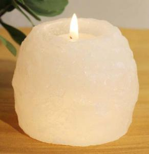 Regnbågsvävar Vit saltkristallykta 400 g