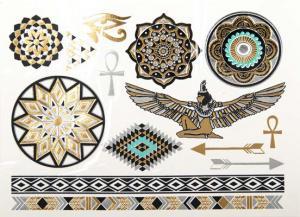 Regnbågsvävar Tillfällig tatuering - Egyptisk