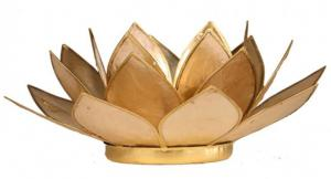 Regnbågsvävar Lotusblomma för värmeljus, beige
