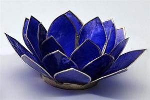Regnbågsvävar Lotusblomma för värmeljus, indigo