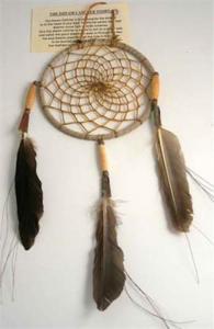 Regnbågsvävar Drömfångare 10 cm, antikbehandlad