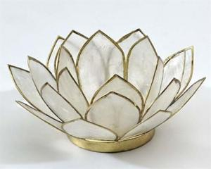 Regnbågsvävar Lotusblomma för värmeljus, natur