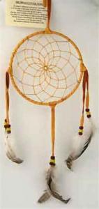 Regnbågsvävar Drömfångare 15 cm,gulbrun