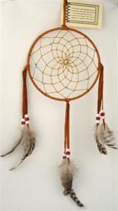 Regnbågsvävar Drömfångare 15 cm, rödbrun