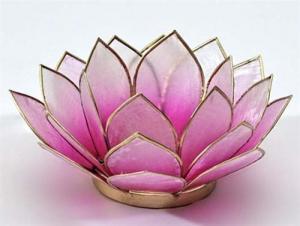 Regnbågsvävar Lotusblomma för värmeljus, rosa