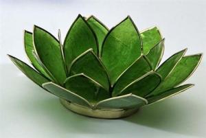 Regnbågsvävar Lotusblomma för värmeljus, grön