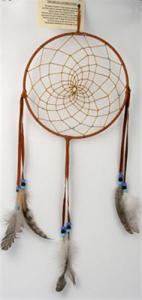 Regnbågsvävar Drömfångare 20 cm, färg G rödbrun