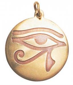 Regnbågsvävar Amulett - Horus Öga