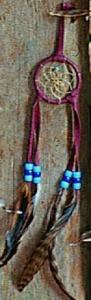 Regnbågsvävar Drömfångare 5 cm, vinröd