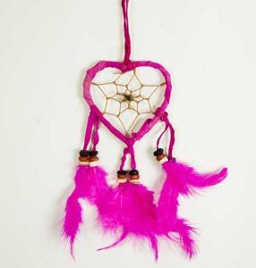 Cleo Liten hjärtformad drömfångare, rosa