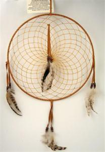 Regnbågsvävar Drömfångare 30 cm, färg G rödbrun