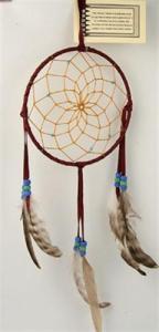 Regnbågsvävar Drömfångare 15 cm,vinröd