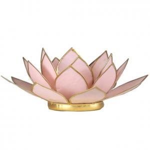Regnbågsvävar Lotusblomma för värmeljus, ljusrosa