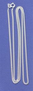 Regnbågsvävar Kedja 60 cm äkta silver