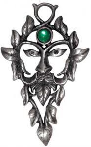 """Regnbågsvävar Hängsmycke, """"The green Man"""""""