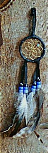 Regnbågsvävar Drömfångare 5 cm, svart